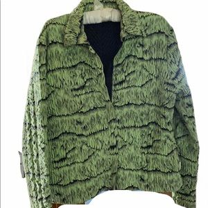 Reversible Green & Black Jacket with pockets